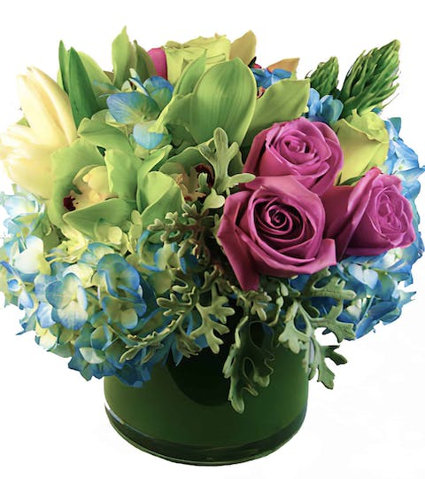 A Touch of Lavender Flower Arrangement | San Francisco Florist Since 1871 Free Bay Area and San Francisco Flower Delivery