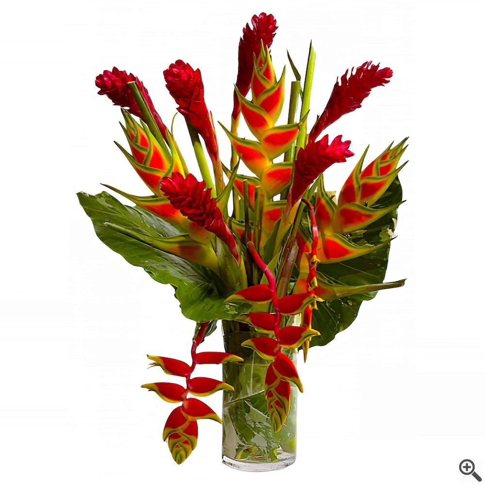 Tropical Heliconia Flower Arrangement