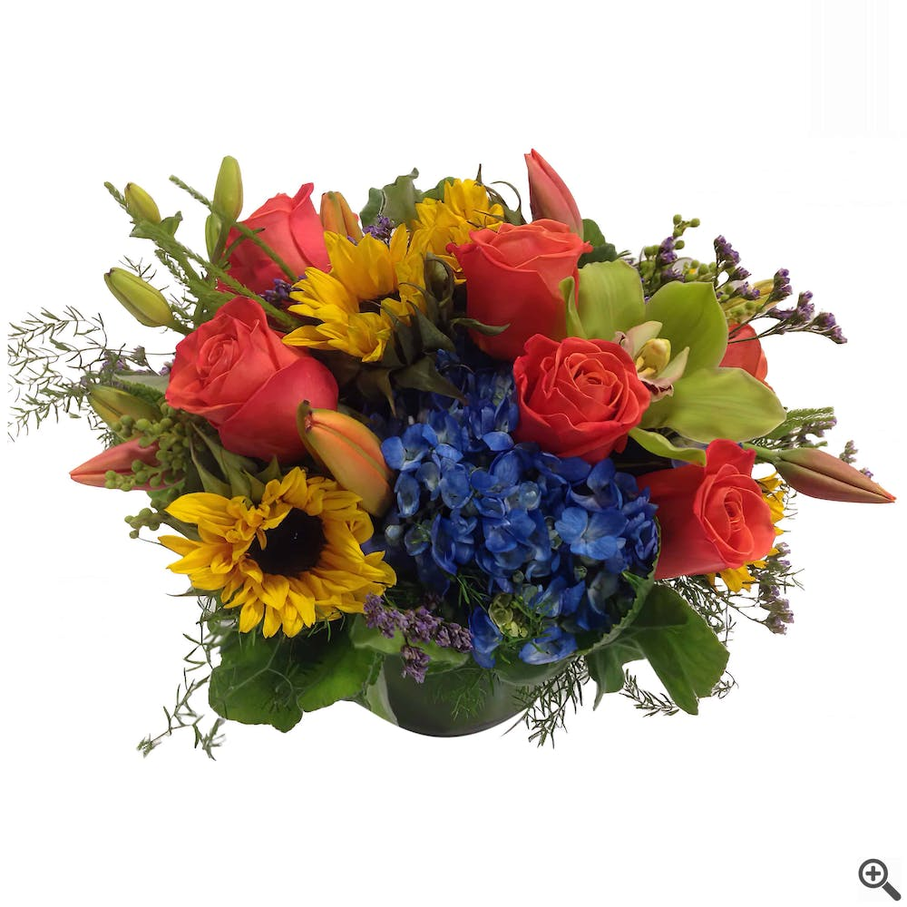 Orange Compliment Flower Arrangement