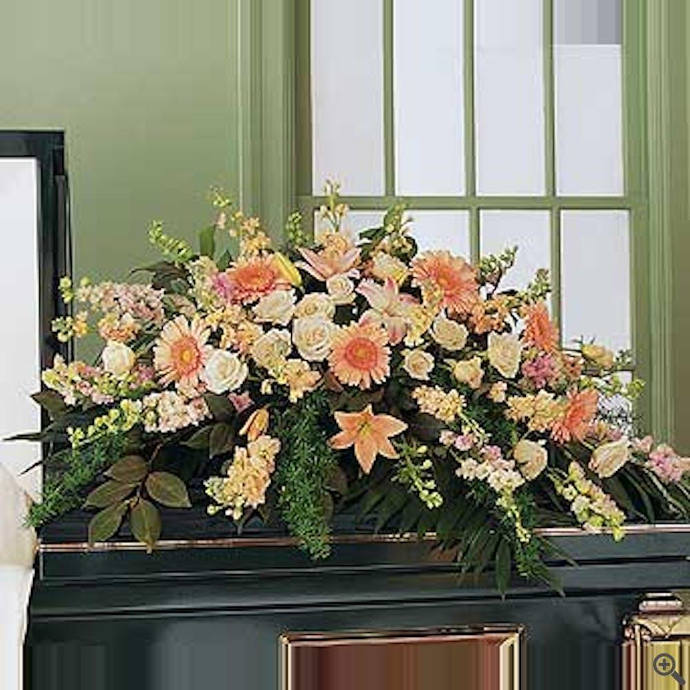 Half Casket Funeral Piece - Flower Arrangement
