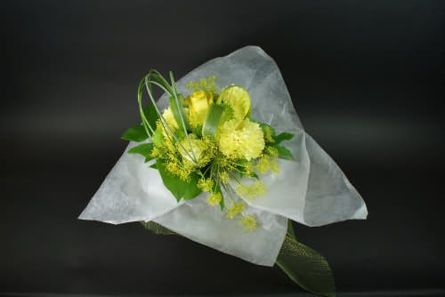 Yellow Seasonal Flower Bouquet