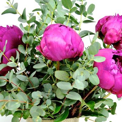 Eucalyptus Peony Flower Arrangement