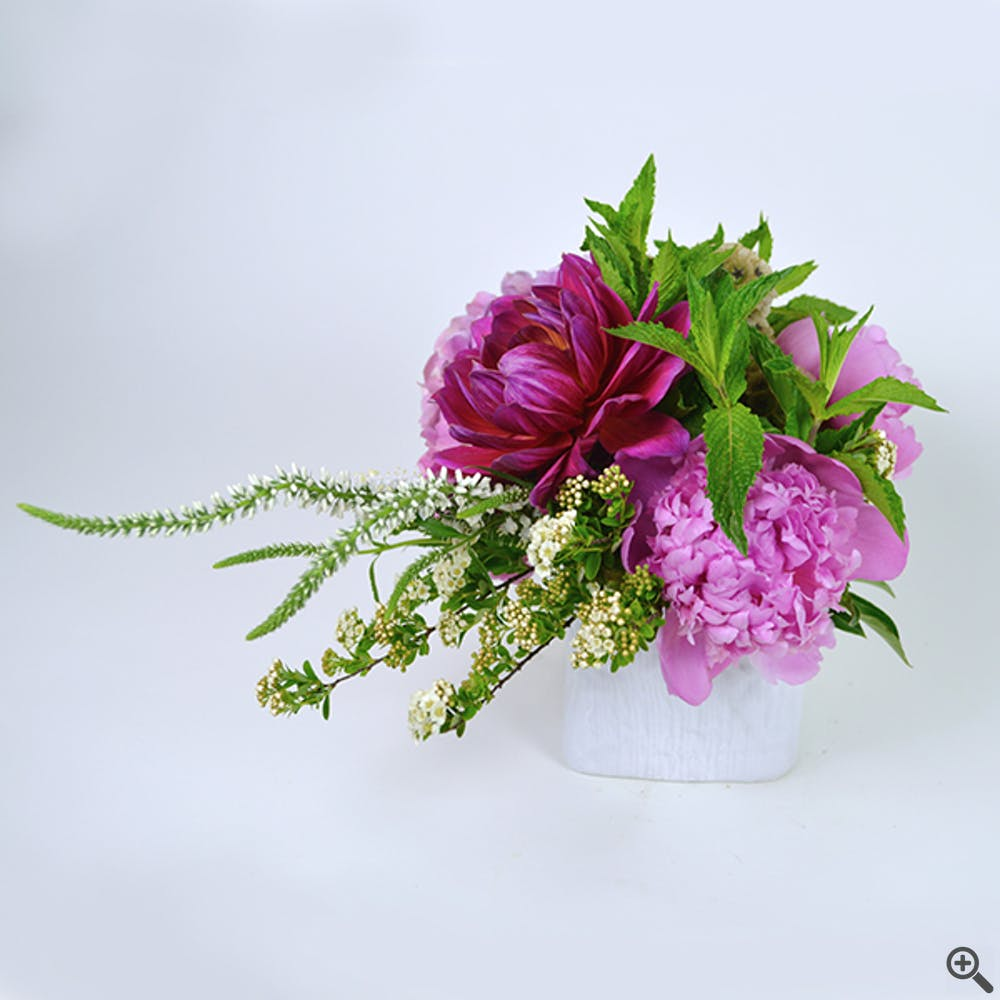 Snaked Peony Flower Arrangement