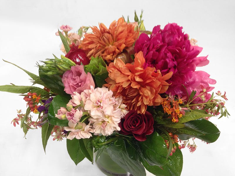 Warm Peony Mix Floral Arrangement