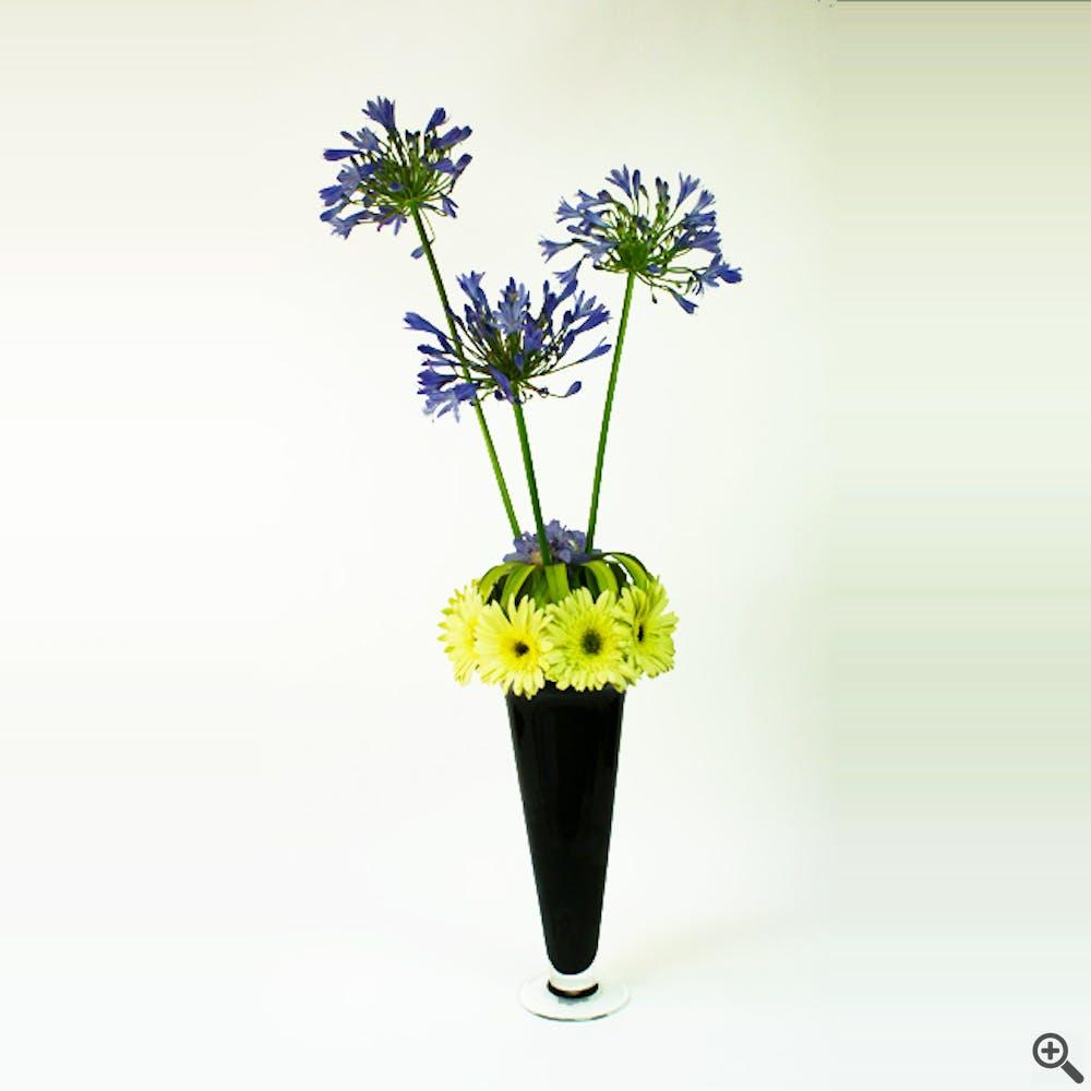 Spheres of Purple Flower Arrangement