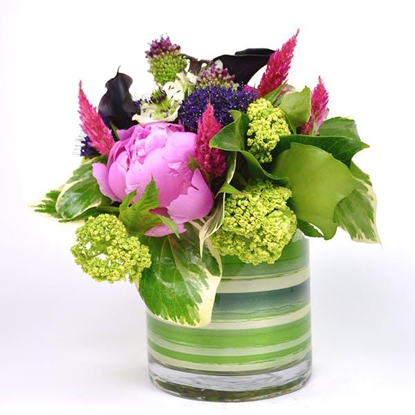 Striped Peony Flower Arrangement