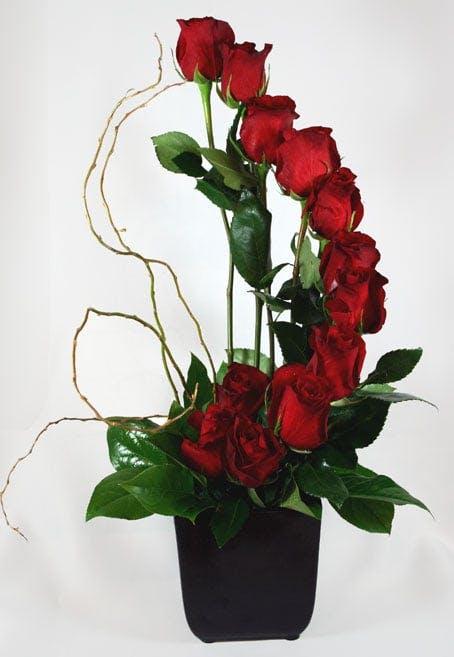 Fiori di Milano Dozen Roses Flower Arrangement | San Francisco Florist Since 1871 Free Bay Area and San Francisco Flower Delivery