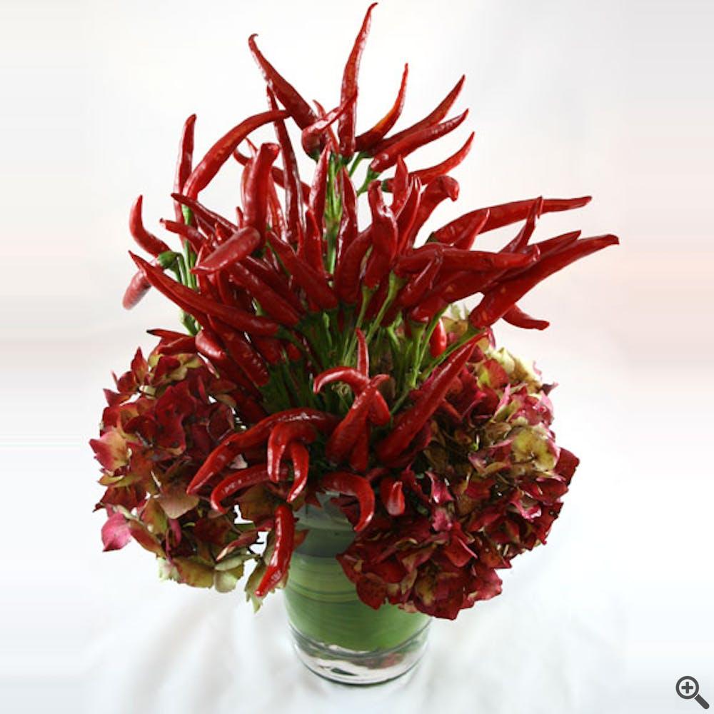 Red Hot! Chili Pepper Flower Arrangement