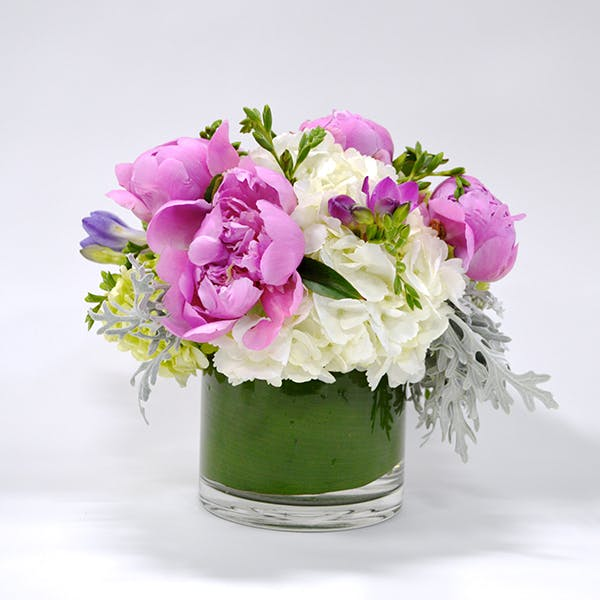 Pastel Peony Flower Arrangement | San Francisco Florist Since 1871 Free Bay Area and San Francisco Flower Delivery
