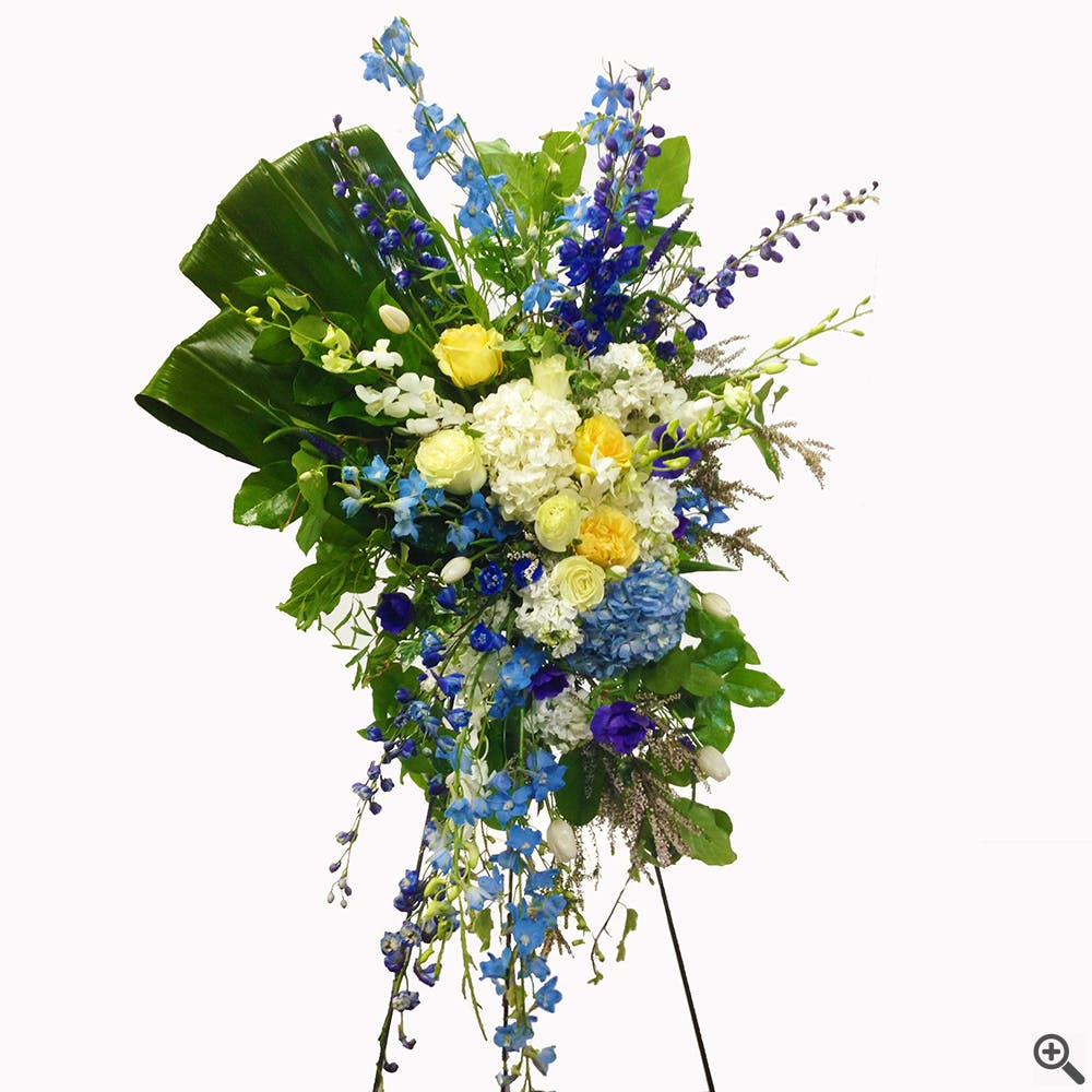 Blue and Yellow Sympathy Spray