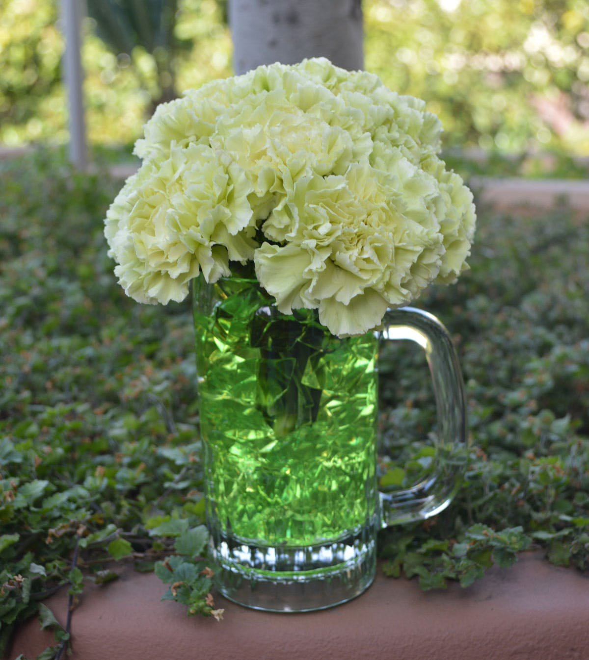 Green Beer Flower Arrangement