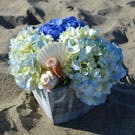 Seashells By the Shore Flower Arrangement