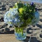 Beach Blues Flower Arrangement
