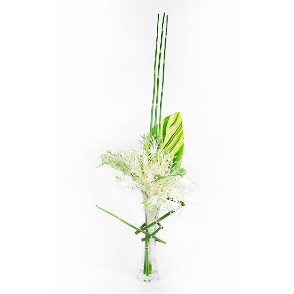 Peacock Kale and Horsetail Flower Arrangement